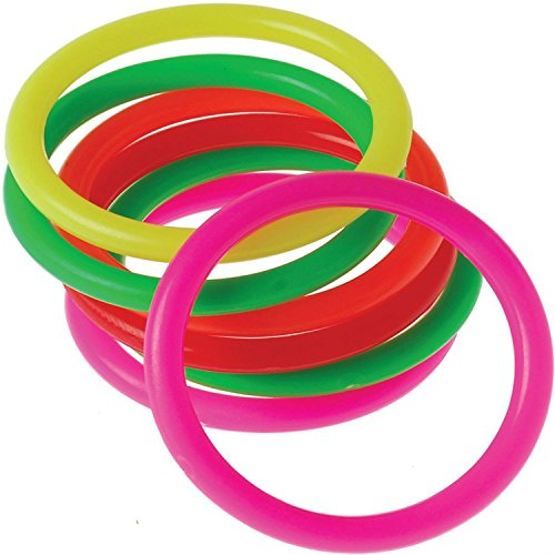 US Toy 2 Dozen Neon Assorted Color Carnival Game Rings (24 Total ()