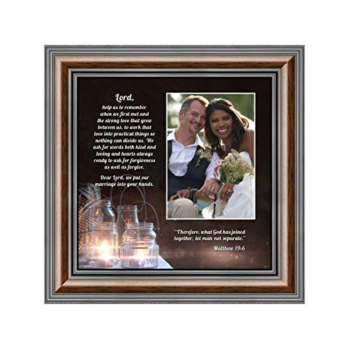 Personally Yours Marriage Prayer with Scripture, A Matthew Bible Verse, True Love Picture Frame, 10x10 6374W