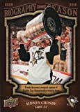 Sidney Crosby hockey card (Pittsburgh Penguins) 2009 Upper Deck Biography of a Season #BOS1 Stanley Cup Champion