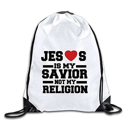 Jesus Is My Savior Not Religion Port Bag Drawstring Backpack