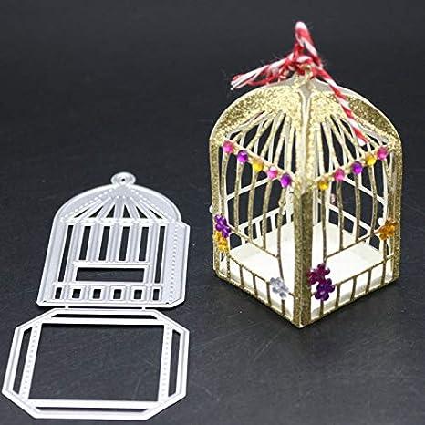 Plantillas de metal con diseño de jaulas de pájaros para ...