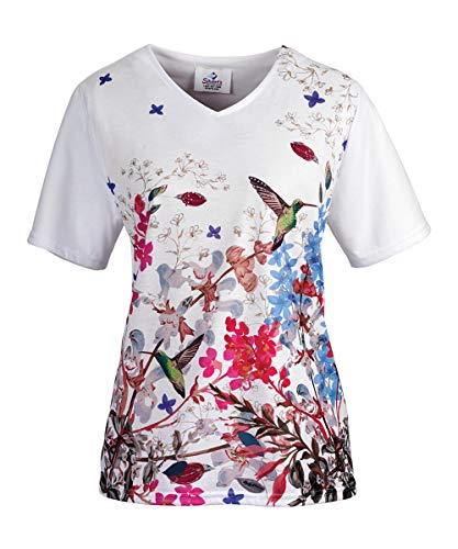 - Wonderful Adaptive Top for Women - Disabled Adult Clothing - - White/Berry MED