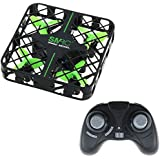 Mini RC Quadcopter Drone UFO, Micro Foldable Drone Headless Mode 2.4Ghz 4CH 6-Axis Gyro Remote Control LED Lights Nano Aircraft Helicopter for Beginners Kids