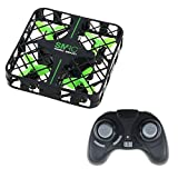 Mini RC Quadcopter Drone UFO,Sanmersen Micro Foldable Drone Headless Mode 2.4Ghz 4CH 6-Axis Gyro Remote Control LED Lights Nano Aircraft Helicopter for Beginners Kids