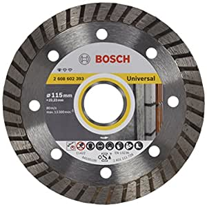 Bosch 2 608 602 393  - Disco tronzador de diamante Standard for Universal Turbo - 115 x 22,23 x 2 x 10 mm (pack de 1)