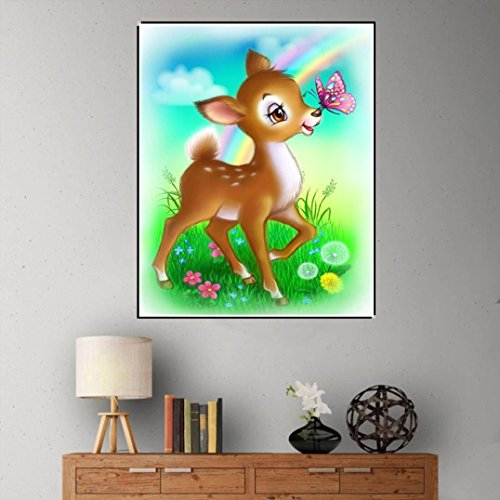 Pandaie -Cartoon deer-5D Diamond Painting Kits Diy Amazon Kit Cross Stitch Michaels 3D Art Paint Hobby Decor Wall Room Stickers & Murals Bedroom