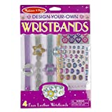 Melissa & Doug Design-Your-Own Wristbands Jewelry-Making Kit (Makes 4 Faux-Leather Wristbands)