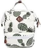 FITMYFAVO 14' Laptop Backpack for Women | Pineapple Casual Backpack | Daypack for Women