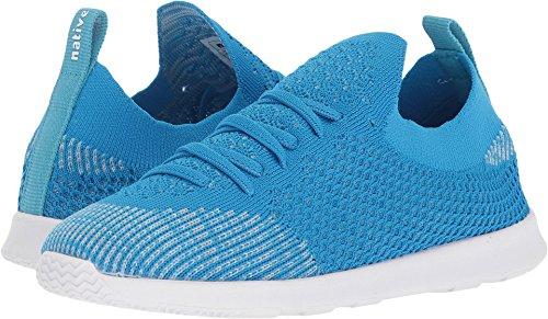 Native Shoes Unisex AP Mercury Liteknit Junior Sneaker, Wave Blue/Shell White, 5 Medium US Big Kid