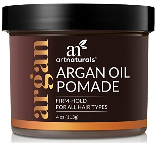 ArtNaturals Professional Argan Oil Pomade - (4 Oz/113g) - Strong Hold for All Hair Types – Natural Hair Styling Formula – Men and Women – Made in USA – Thick