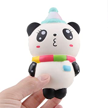 Adeeing Antistress Squishy Slow Rising Cartoon Panda Toy for Kids Home Decoration