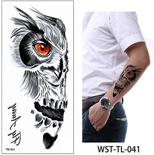 adgkitb 4 Piezas Tatuaje Chica Tatuaje Temporal pájaros Flores ...