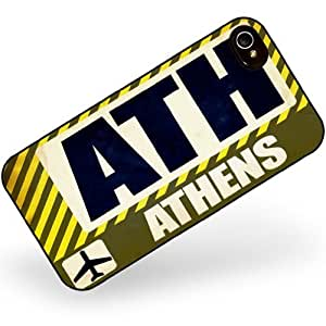 Rubber Case for iphone 4 4s Airport code ATH / Athens country: Greece - Neonblond