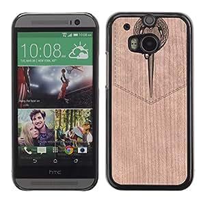 - Bookmark Music Orchestra Magic - - Funda Delgada Cubierta Case Cover de Madera FOR HTC M8 One 2 BullDog Case