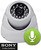 Cheap USG Sony DSP 2MP 1080P 960H Dome Security Camera with Built-In Microphone + Indoor Durable Plastic Housing + 65ft IR Night-vision + 3.6mm Wide Angle Lens + IR-Cut : HD-TVI, HD-CVI, AHD, Analog BNC