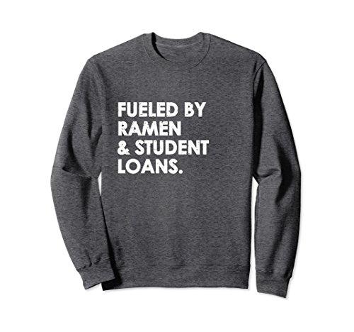 Unisex Funny College Student School Graduate Longsleeves Sweatshirt 2XL Dark Heather (Boys Long Sleeved Twill Shirt)