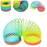 XuBa Fashion Colorful Rainbow Plastic Magic Slinky Children Classic Development Toy as Picture Show
