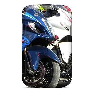 SherieHallborg Samsung Galaxy S3 Shockproof Hard Phone Covers Support Personal Customs Realistic Hayabusa Image [CxG7881jHEb]