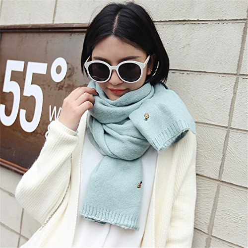 fresh thickening knit 45cm sister winter MONEYY Female scarf sided scarf double small e color soft series Day Korean 200 Pure E in sweater 4RqqYwTxa