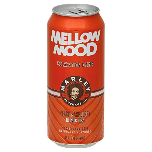 (Marleys Mellow Mood, Tea Black Peach Raspberry Roasted Relax, 15.5 Fl Oz)