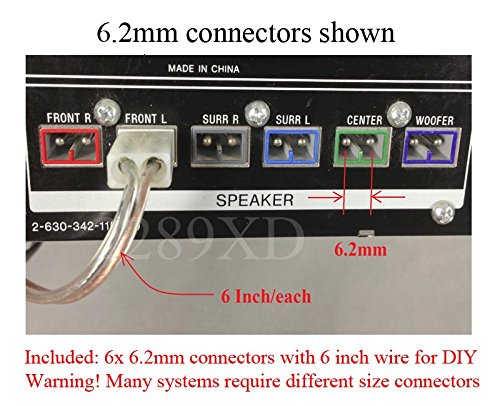 Amazon.com: 6.2mm Home Theater Speaker Wire Connectors(plugs) for ...