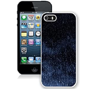 NEW Unique Custom Designed iPhone 5S Phone Case With Rain Drops Fall_White Phone Case