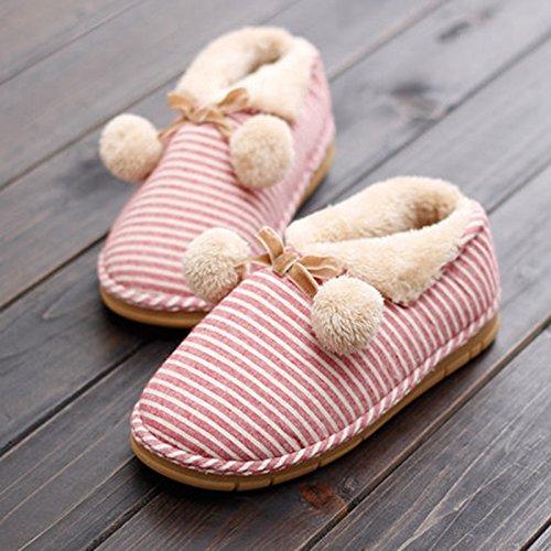 Y-Hui femmina Scarpe invernali dentro e fuori la camera di un paio di pantofole di cotone caldo spessa spessa estremità inferiore Home Arredo Pattini di slittamento uomini,Suggerimento: la dimensione