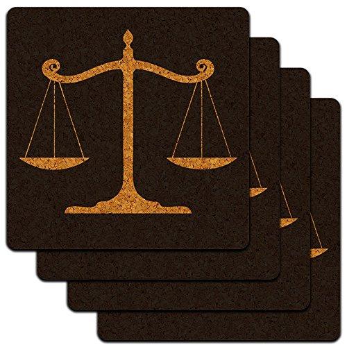 Balanced Scales Justice Profile Coaster