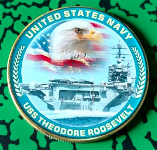 (Navy USS Theodore Roosevelt Aircraft Carrier Colorized Art Coin)