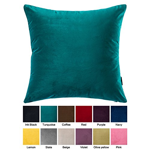 OJIA Deluxe Home Decorative Super Soft Plush Solid Faux Sued