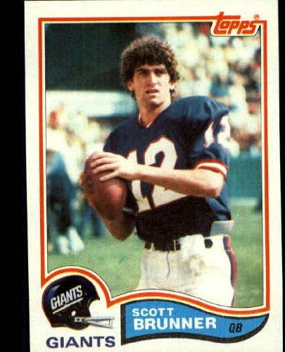 1982 Topps Football Rookie Card #416 Scott Brunner