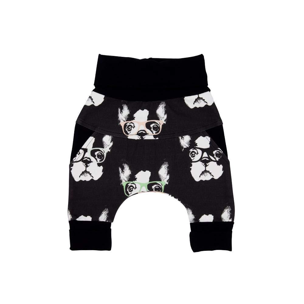 Harem Little Boston Unisex Organic Cotton Grow with me Pants Baby Boy//Baby Girl