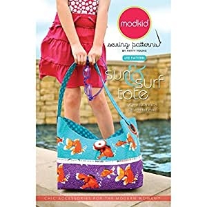 Modkid Sewing Patterns, Sun and Surf Tote by Modkid