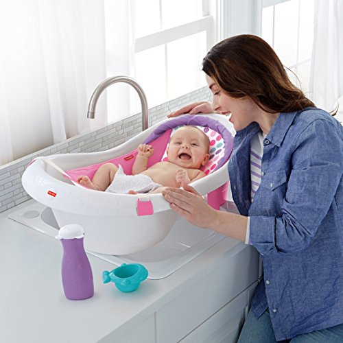 Shnuggle Baby Bath Tub - Compact Support Seat for Newborns, Wash Infants and Make Bath Time Easy, 0-12m, Grey