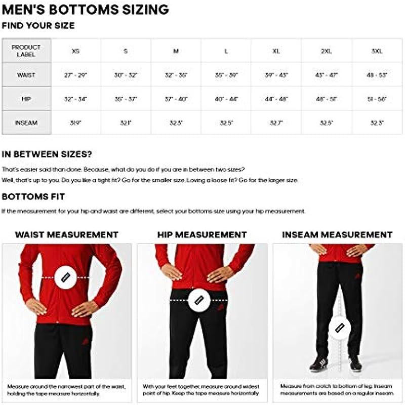 adidas Męskie Unterhose Essentials 3-Stripes Tapered Pants: Odzież