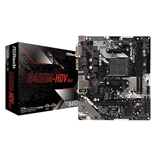 ASRock B450M-HDV R4.0 AM4 AMD...