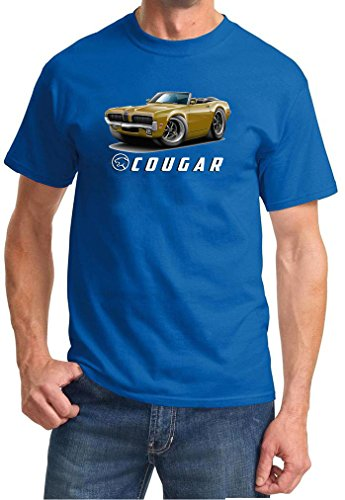 1970 Mercury Cougar Convertible Full Color Design Tshirt XL Royal 1970 Mercury Cougar Convertible
