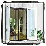 Surpass 72'(w) X 80'(h) Magnetic Screen Door for French Doors/Sliding Glass Doors/Patio Doors,Hands Free Instant Mesh Mosquito & Bug Net Curtain Black