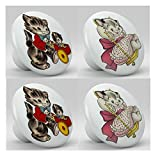 Cute Vintage Retro Kitten Ceramice Knobs
