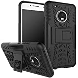 Chevron Motorola Moto G5 Plus Tough Hybrid Armor Back Cover [Black]