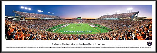 Hare Framed Print (Auburn Tigers Football - End Zone - Blakeway Panoramas College Sports Posters with Standard Frame)