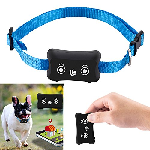 FidgetFidget GPS Pet Dog Cat Tracker Locator Quad-Band GSM/GPRS Real Time Anti Lost Signal ()