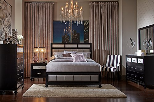 Coaster Home Furnishings 200891Q Panel Bed, Queen, Grey/Black