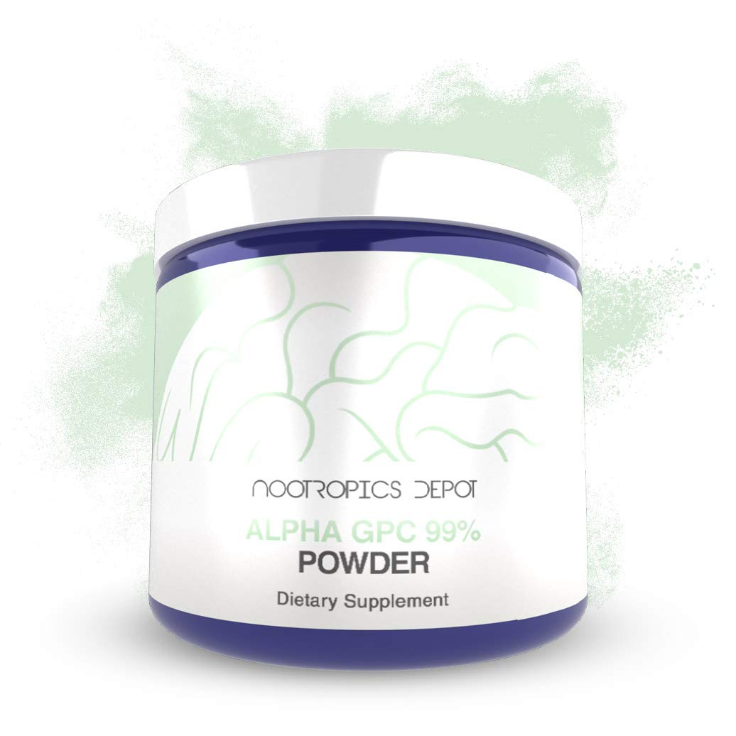 Alpha GPC Powder (99%) | 60 Grams | Cholinergic Supplement | Brain Health Supplement | Supports Cognitive Function