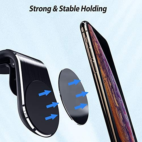L Shape Car Phone Holder Magnet for Phone Stand in Car Air Vent Mount Support Magnetic for iPhone Samsung Cell Mobile Phones