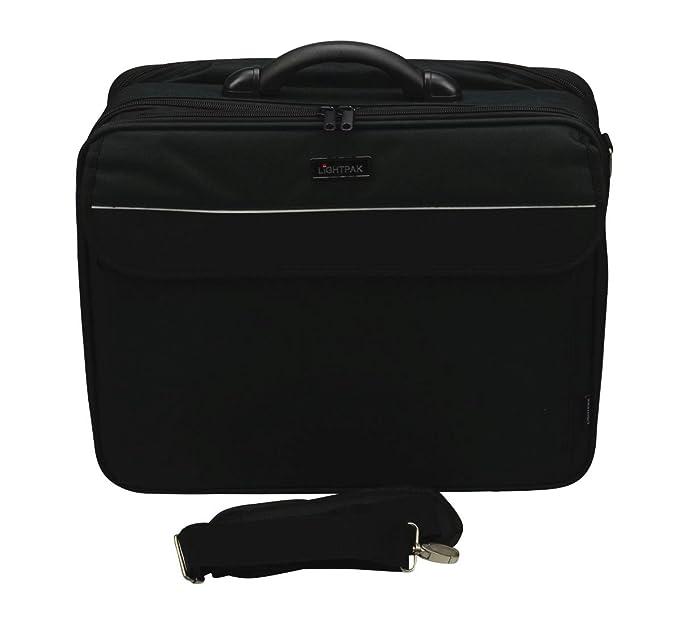 LiGHTPAK CORNICHE - Maletín para ordenador portátil, color negro: Amazon.es: Oficina y papelería