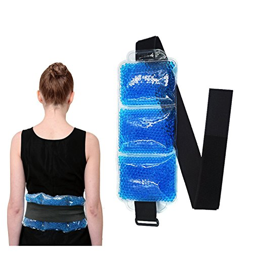 Flexible Beads Ice Pack for Knee,Waist,Eyes, Hot & Cold Therapy with Strap (Waist ice (Best Rainbow Knee Ice Packs)