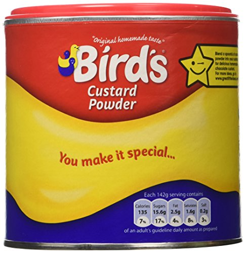Bird's Custard Powder Original -- 300 g (Vanilla Cornstarch Pudding)