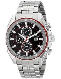 Joshua & Sons Men's JS68RD Analog Display Swiss Quartz Silver Watch