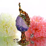 YU FENG Peacock Style Easter Egg Decoration